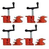 4PCS Muzerdo 3/4' Wood Gluing Pipe Clamp Set Heavy Duty PRO Woodworking Cast Iron
