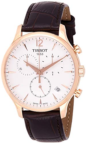 Tissot Men's T0636173603700 Tradition Analog Display Swiss Quartz Brown Watch