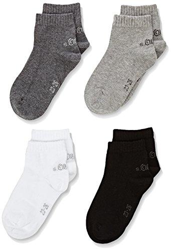 s.Oliver Socks - S21008, Calzini per bambini e ragazzi, grigio (Grau (grey combination 49)), 23/26