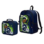 Features 3D raised, light catching graphics; lunch kit attaches to backpack via fabric fastener closure Backpack has one large main compartment; additional front zippered compartment; side mesh pockets; padded shoulder straps and air mesh back panel;...