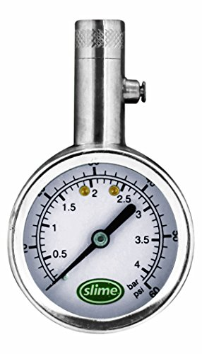 Slime 20049 Large Face Dial Tire Gauge, 5-60 PSI