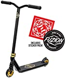 Fuzion Z300 Pro Scooter Complete Trick Scooter -Stunt Scooters for Kids 8 Years and Up, Teens and Adults – Durable, Freestyle Kick Scooter for Boys and Girls (2020 - Black/Gold)