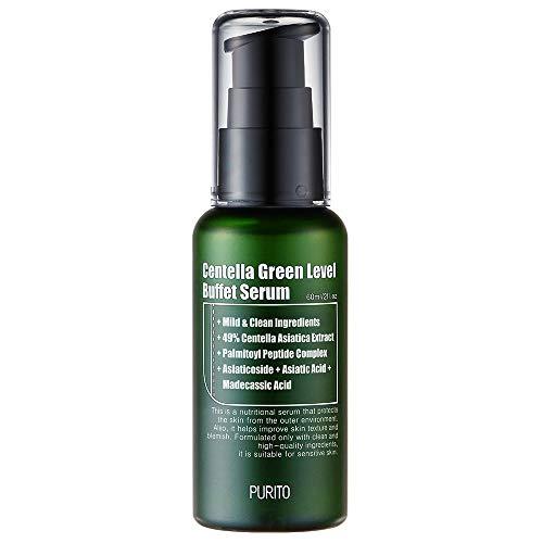 PURITO Centella Verde Level Buffect Serum 60ml2 fl oz, serum para rostro, Centella Asiatica, Recuperación facial SERUM, vegano