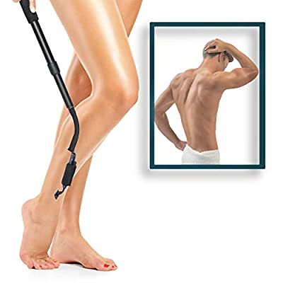 LIMITED MOBILITY TOOL: Hip replacement, pregnant, injured, back pain, small shower; the Smooth Reach razor extender is helpful for every situation where you have limited mobility. COMPATIBLE WITH ANY RAZOR: No need to purchase expensive over-price re...