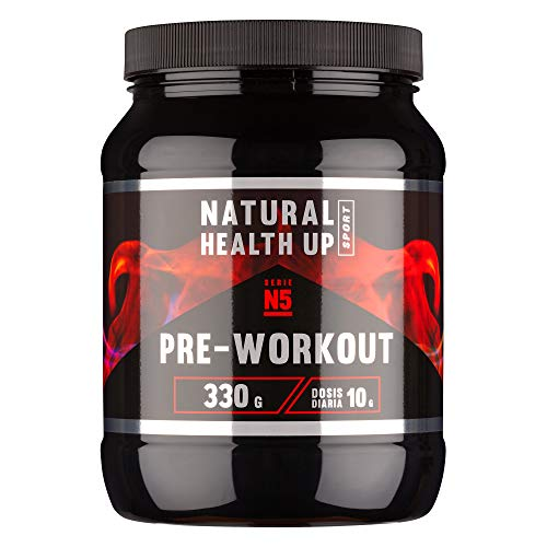 Pre entreno con arginina y creatina para un mejor rendimiento deportivo – Pre-entreno con vitaminas B3 y B6 para el crecimiento muscular – Sabor frutas del bosque – 330 gramos (Frutas del Bosque)
