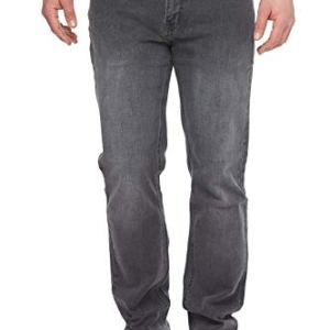 Urban Star Men's Jeans Relaxed Fit – Straight Leg Stretch Grey Jeans for Men 40W x 32L