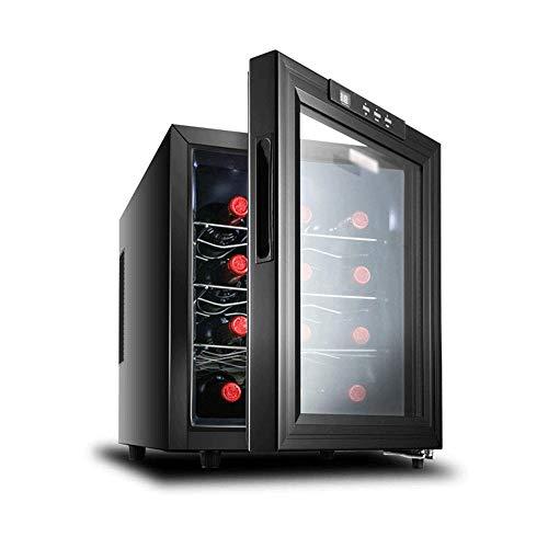 YFGQBCP 12 Bottiglia termoelettrico Wine Cooler/Chiller |Contro Parte Superiore di Vino Rosso e Bianco Cantina |Frigorifero Freestanding, Quiet Funzionamento Frigo |Acciaio Inossidabile