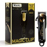 Wahl Professional 5-Star Limited Edition Black & Gold Cordless Magic Clip #8148-100 – Great for...