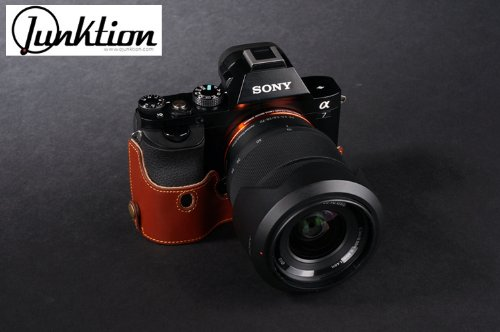 SONY ソニー A7 / A7R 本革レザー カメラケース ハンドストラップ付 -ブラウン