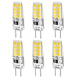 LEKE G8 Bulb Warm White 3W G8 LED Bulb Equivalent to G8 Halogen Bulb 20W-25W Dimmable G8 Light Bulb 3000k, AC 110v/120v/130v(6 Pack)