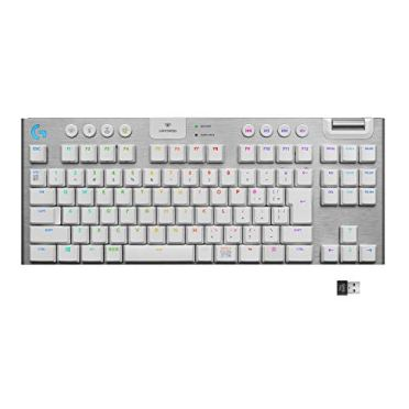Logicool G ゲーミングキーボード テンキーレス G913 TKL ホワイト LIGHTSPEED ワイヤレス タクタイル 静音 日本語配列 G913-TKL-TCWH 国内正規品 2年間メーカー保証