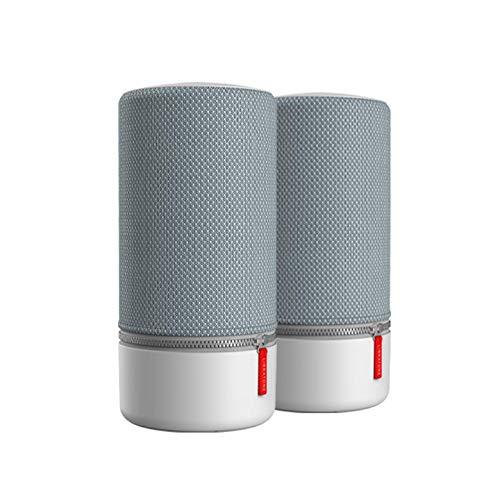 Libratone ZIPP 2 MultiRoom-bundel 2 stuks, slimme draadloze luidsprekers (Alexa Integration, AirPlay 2, 360 Sound, Wi-Fi, Bluetooth, Spotify Connect, 12 uur batterij) Frosty Gray