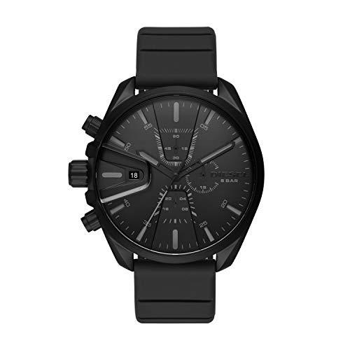 Diesel Herren Chronograph Quarz Uhr mit Silikon Armband DZ4507