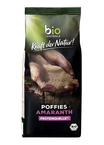 biozentrale Amaranth Poffies Bio | 4x125g Amaranth gepufft & Amaranth Poffies ohne Zuckerzusatz*| Ideal für köstliche Müslis, Süßspeisen und Backwaren