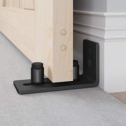 EaseLife Sliding Barn Door Bottom Floor Guide,Adjustable Roller,Wall Mount System,Flush Flat Bottom Design,2...
