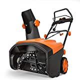 TACKLIFE Snow Blower, 15 Amp Electric Snow Thrower, 20 Inch, 4-Blade Steel Auger, 800lbs of Snow per min, 180 Rotatable Chute Throws Snow up to 30ft, 60/90 Snow Outlet, 3000RPM, Overload Protector