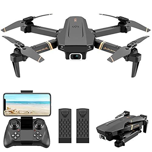 4DRC 1080P HD Drone con Telecamera per Principianti, Drone WiFi FPV 2.4Ghz, Funzione di Hovering, Un Pulsante Decollo e Atterraggio, G-sensore, Capovolgimento 3D,Volo Circolare, Adatto ai Principianti