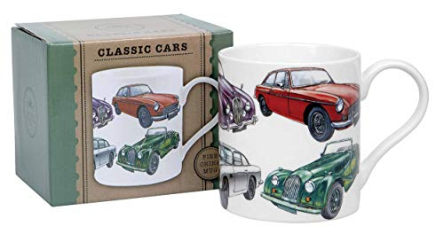 classic cars mug gift boxed by Lesser & Pavey