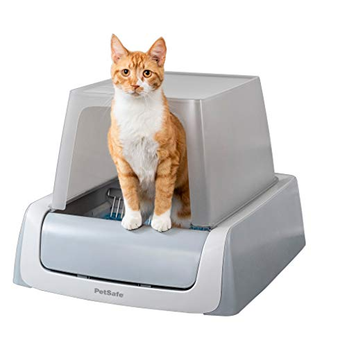 PetSafe ScoopFree Ultra Automatic Self Cleaning Hooded Cat Litter Box, Includes Disposable Trays with Crystal Litter and Hood, 2 Colors