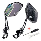 GES Bike Mirrors - 360 Degree Adjustable Bicycle Cycling Rear View Helmet Mirror for Mountain Bike, Electric Bike - 2 Packs of Safety Rearview Mirror