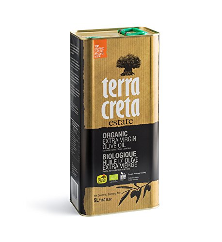 Terra Creta | Certified PDO ORGANIC Extra Virgin Olive Oil 5Ltr | Award Winning | Single Origin & Single Estate Kolymvari | 100% Pure Greek Olive Oil | Cold Extracted | Certified Kosher