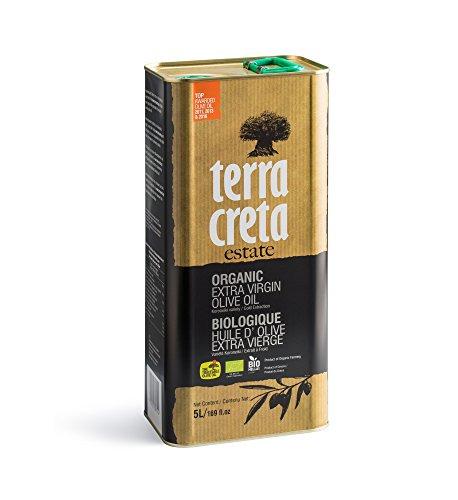 Terra Creta | Certified PDO ORGANIC Extra Virgin Olive Oil 5Ltr | Award Winning | Single Origin & Single Estate Kolymvari | 100% Pure Greek Olive Oil | Cold Extracted | Certified Kosher