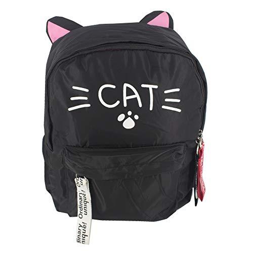 Mochila orelhinha de gato preto cat- patinha