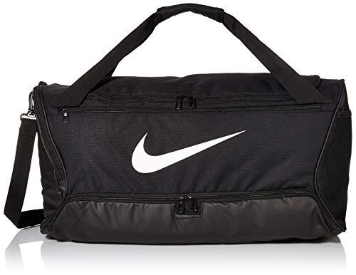 Nike Brasilia (Medium) Trainingstasche, Black/Black/White, 64 x 30 x 30 cm