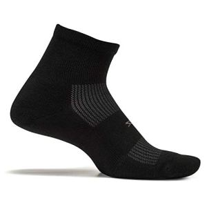 Feetures! – High Performance Cushion – Quarter – Black – Size Large