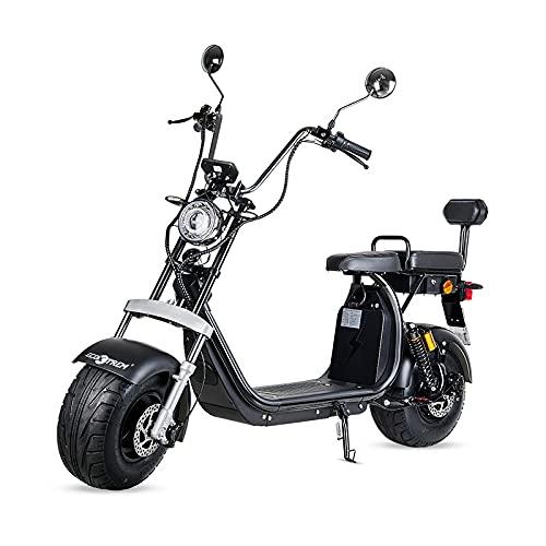 VIRTUE Moto electrica Scooter matriculable de 1500w bateria Extraible de 20Ah 60v Nuevo Modelo 2021 Patinete Patin Bici Bicicleta Motor Chopper City Coco Negra Legal en Ciudad