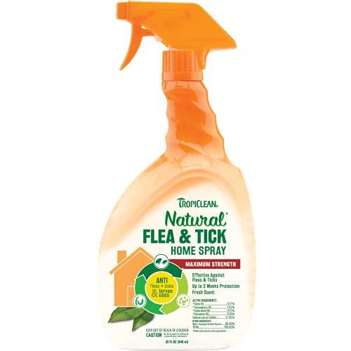 TROPICLEAN Spray Anti Pulgas y Garrapatas para Casa - Máxima Potencia...