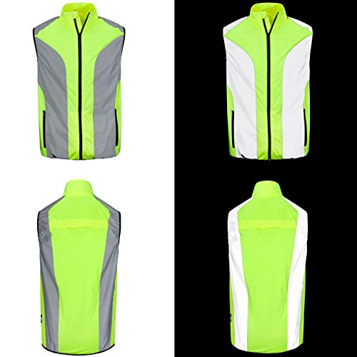 BTR Hi Vis Reflective Cycling & Running Gilet/Vest. Fits Men & Women. High Visibility (Hi Viz) & VERY Reflective Outdoor Sports Gilet. XS 36-38 Inches