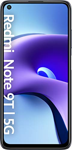 "Xiaomi Redmi Note 9T 5G - Smartphone 4GB+128GB, 6,53"" FHD+ DotDisplay 60Hz, MediaTek Dimensity 800U, 48MP Triple Kamera, 5000mAh, NFC, Nightfall Black (Offizielle Version + 2 Jahre Xiaomi Garantie)"