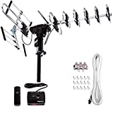 Five Star [Newest 2020] Outdoor Digital Amplified HDTV Antenna - up to 200 Mile Long Range, Directional 360 Degree Rotation by Remote Control, HD 4K 1080P FM Radio,Support 5 TVs Plus Installation Kit