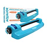 Sun Joe SJI-OMS20 4,400 Sq Ft Coverage Indestructible Jumbo Oscillating Sprinkler, Metal Base