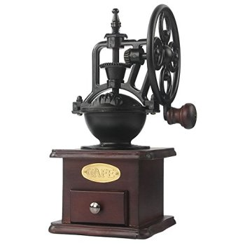 Moulin à café manuel de manivelle de fonte de moulin à café manuel avec les paramètres de morcellement et le tiroir de prise