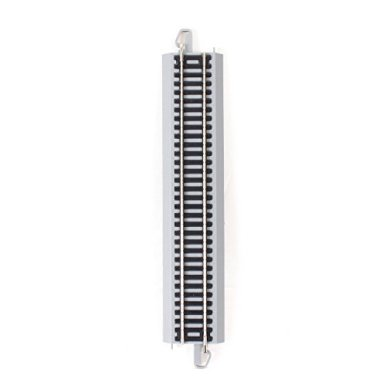 Bachmann-Trains-Snap-Fit-E-Z-Track-9-Straight-Track-4card-Nickel-Silver-Rail-With-Gray-Roadbed-HO-Scale