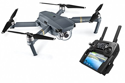 DJI - Mavic Pro - Quadcopter Drone con fotocamera, Video 4K Ultra HD, Grigio