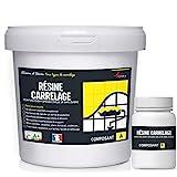 peinture pour carrelage cuisine salle de bain résine rénovation meuble - RAL 1019 Beige gris - Kit 1 Kg jusqu'à 10 m² pour 2 couches - ARCANE INDUSTRIES