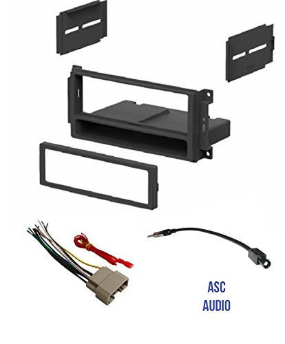 ASC Audio Car Stereo Radio Install Dash Kit, Wire Harness, and Antenna Adapter to Add a Single Din Radio for some 2007-2016 Chrysler Dodge Jeep- Important: Read Compatible Vehicles /Restrictions Below