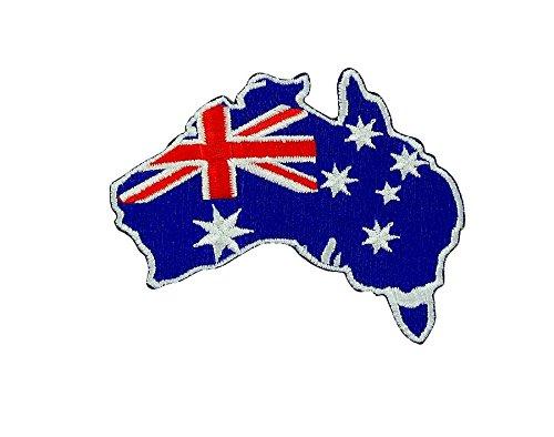 Patch ecusson brodé drapeau backpack australie carte australien...