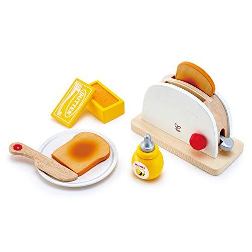 Hape Tostapane Hape, Set da Cucina per Bambini con Accessori per La Colazione