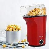 MVPower Machine à Popcorn Electrique 1400W, Popcorn Popper Antiadhésif, Air Chaud sans Huile, avec...