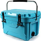 Arctic Zone Titan Deep Freeze 20Q Premium Ice Chest Roto Cooler with Microban Protection, Blue