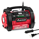 Avid Power Tire Inflator Air Compressor, 12V DC / 110V AC Dual Power Tire Pump with Inflation and...