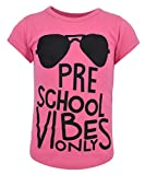 Unique Baby Girls Preschool Vibes Only Back to School T Shirt (4t, Pink)
