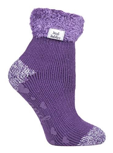 HEAT HOLDERS - 1 coppie calzini antiscivolo donna invernali letto adulti termico soffici in 8 colori 37-42 eur - Bed Socks (HHL13)