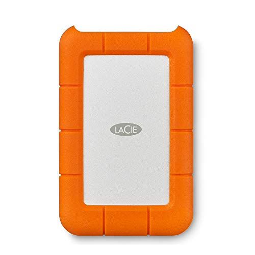 LaCie STFR4000800 Rugged Unit Disco Esterna Portatile, 4 TB, USB-C, Unit Shuttle Resistente a...