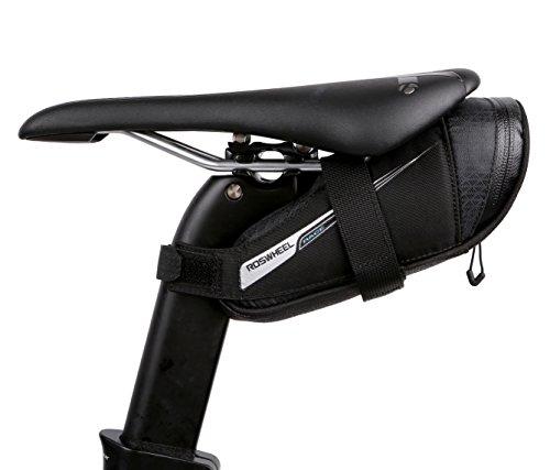 Roswheel Unisex's 131432 Bike Bicycle Saddle seat Bag, Black, 0.6L
