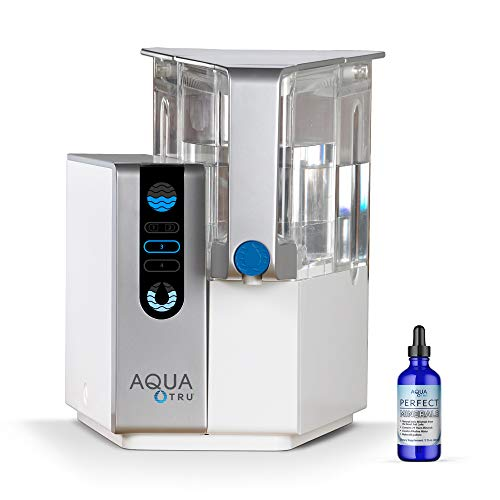 Product Image 1: AquaTru - Countertop Water Filtration Purification System with Perfect Minerals Drops - Exclusive 4-Stage Ultra Reverse Osmosis Technology (No Plumbing or Installation Required) | BPA Free